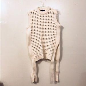 NWOT Tibi Sleeveless Sweater with side slits